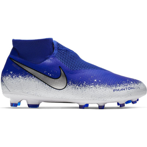 Nike Phantom VSN Pro DF Firm Ground Boots - Blue/Chrome/White