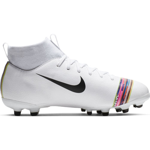Nike CR7 Jr. Superfly 6 Academy Firm Ground Boots - White/Black/Platinum