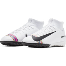 Nike CR7 Jr. SuperflyX Academy Artificial Turf Boots - White/Black/Platinum