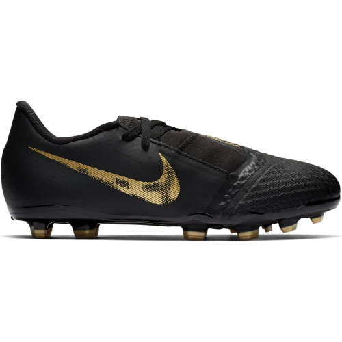 Nike Jr. Phantom Venom Academy Firm Ground Boots - Black/Gold