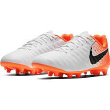 Nike Jr. Legend 7 Academy Firm Ground Boots - White/Black/Red