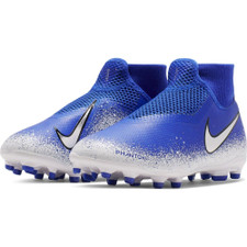 Nike Jr. Phantom VSN Academy DF Firm Ground Boots - Blue/Chrome/White