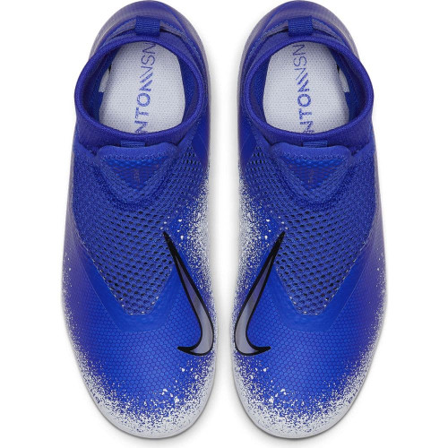 Nike Jr. Phantom VSN Academy DF Firm Ground Boots - Blue/Chrome/White