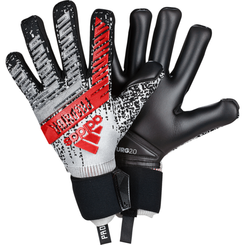 adidas Predator Pro Gloves - Silver/Black/Red