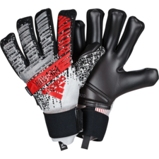 adidas Predator Pro Fingersave Gloves - Silver/Black/Red