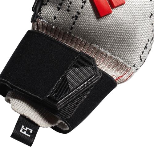 adidas Predator Pro Fingersave Gloves - Silver/Black/Red