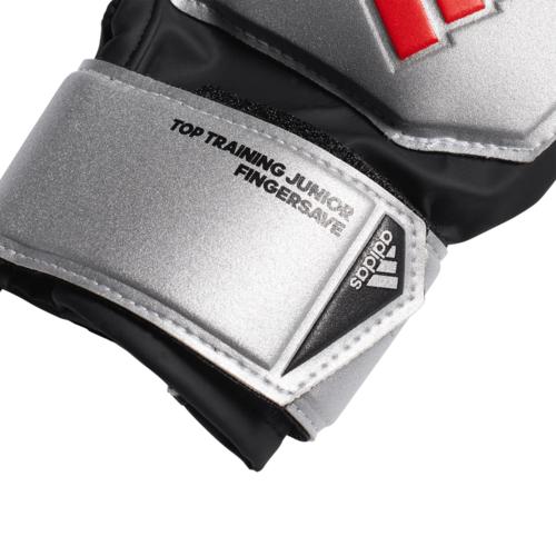 adidas Jr Predator Top Training Fingersave Gloves - Silver/Black