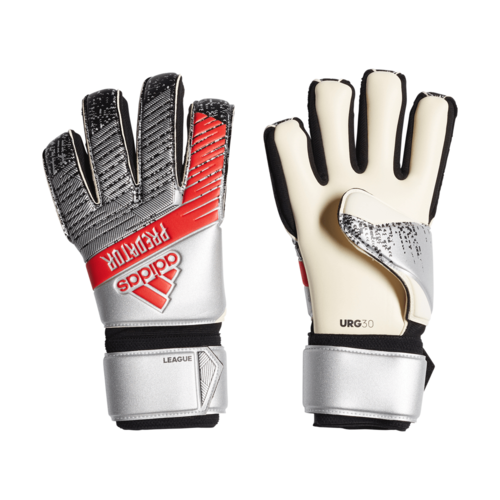 adidas Predator League Gloves - Silver/Black