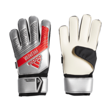 adidas Predator Top Training Fingersave Gloves - Silver/Black