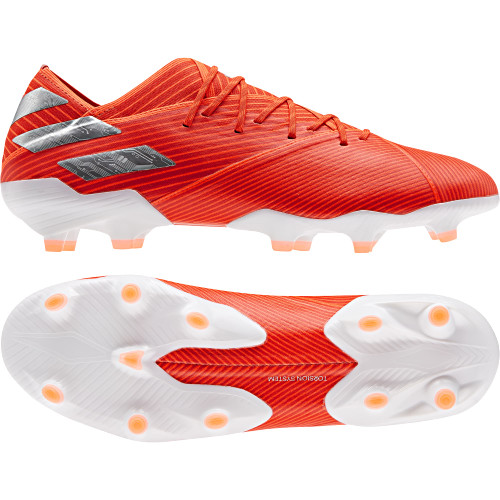 adidas Nemeziz 19.1 Firm Ground Boots - Red/Silver