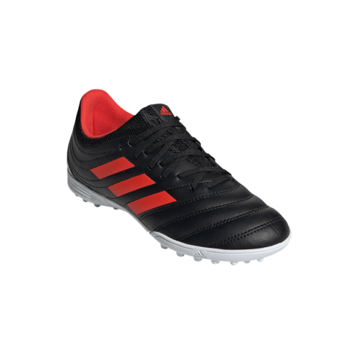 adidas Jr Copa 19.3 Turf Boots - Black/Red/Silver