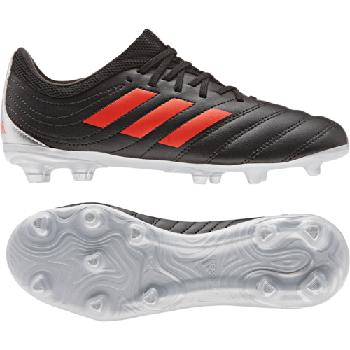 adidas Jr Copa 19.3 Firm Ground Boots - Black/Red/Silver