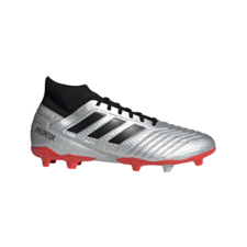 adidas Predator 19.3 Firm Ground Boots - Silver/Black/Red