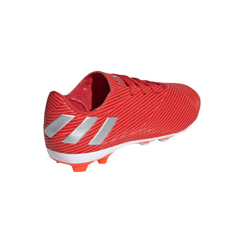 adidas Jr Nemeziz 19.4 Flexible Ground Boots - Red/Silver