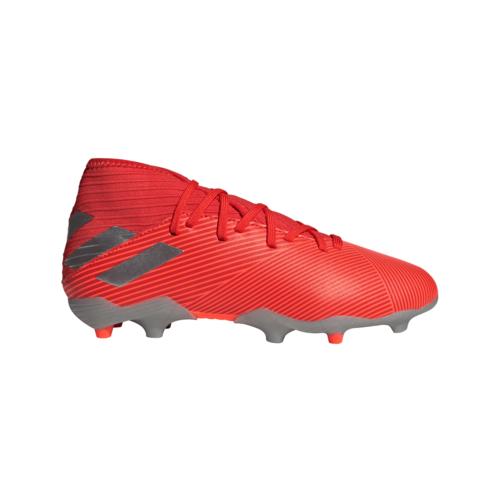 adidas Jr Nemeziz 19.3 Firm Ground Boots - Red/Silver