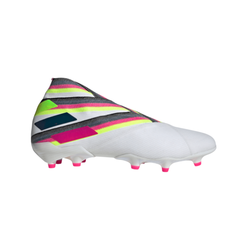 adidas Nemeziz 19+ Firm Ground Boots - White/Pink/Yellow