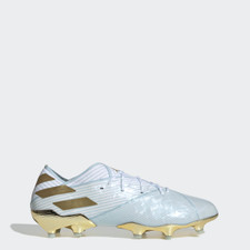 adidas Nemeziz Messi 19.1 Firm Ground Boots 15Y - Aqua/Gold/White
