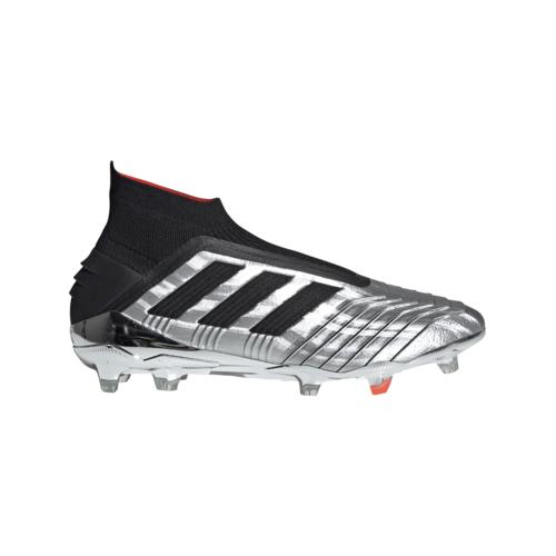 adidas Predator 19+ FG - Silver/Black/Red