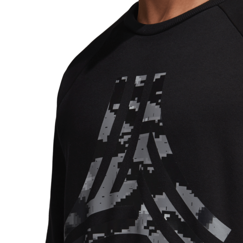adidas Tango Heavy Graphic Crew Sweatshirt - Black