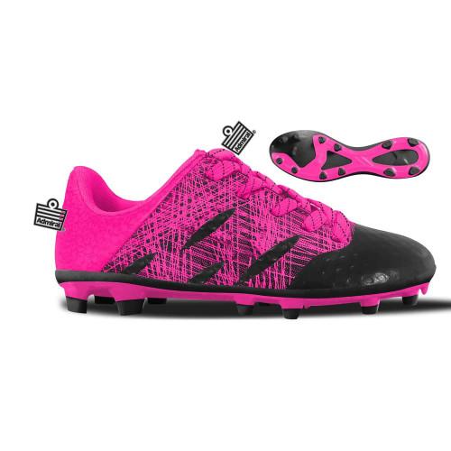 Admiral Evo Firm Ground Boots Jr - Pink/Black