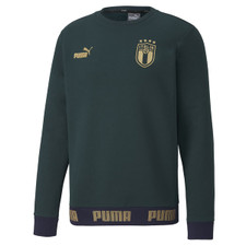 Puma FIGC Football Culture Crew Sweater - Green/Gold