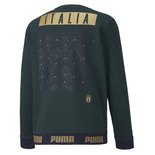 Puma FIGC Football Culture Crew Sweater - Green/Gold