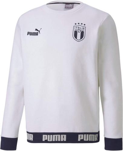 Puma FIGC Ftbl Culture Crew Sweater - White/Peacoat