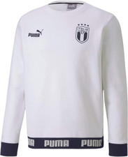 Puma FIGC Ftbl Culture Crew Sweater - White/Peacoat