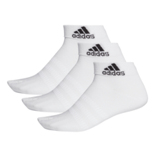 adidas 3 Pack Light Ankle Performance Sock - White