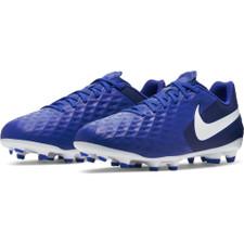 Nike Jr. Tiempo Legend 8 Academy Firm Ground Boots - White/Blue