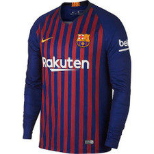 Nike Barcelona Men's Stadium Jersey Long Sleeve - Blue/Yellow