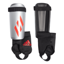 adidas X Youth Shinguard - Silver/Red/Black