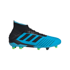 adidas Predator 19.1 Firm Ground Boots - Cyan/Black/Yellow