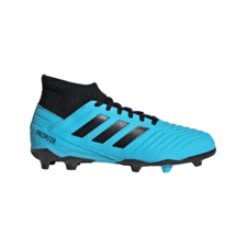 adidas Jr Predator 19.3 Firm Ground Boots - Cyan/Black