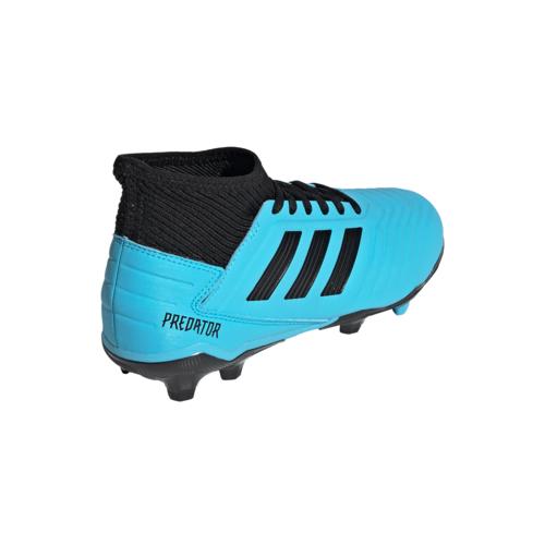 adidas Jr Predator 19.3 Firm Ground Boots - Cyan/Black