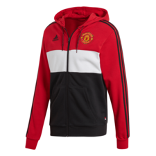 adidas Manchester United Full Zip Hoodie - Red/White/Black