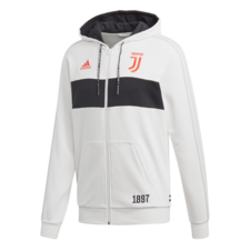adidas Juventus Fleece Hoodie - White/Black