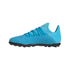 adidas Jr X 19.3 Artificial Turf Boots - Cyan/Black/Pink