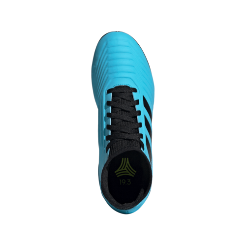 adidas Jr Predator 19.3 Artificial Turf Boots - Cyan/Black/Yellow