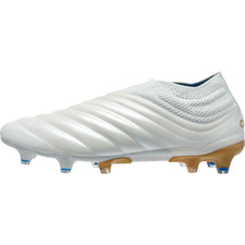 adidas Copa 19+ Firm Ground Boots - White/Gold/Blue