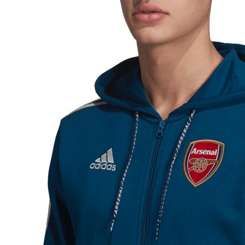 adidas Arsenal FC Full Zip Hoodie - Blue