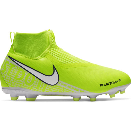 Nike Jr. Phantom Vision Academy Dynamic Fit Firm Ground Boots - Volt/White
