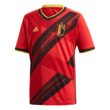 adidas 2020 Belgium Home Jersey Youth - Red