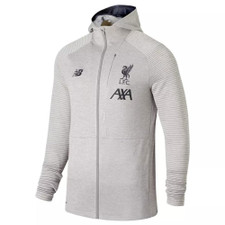 New Balance Liverpool FC 19/20 Travel Full Zip Hoody - Grey