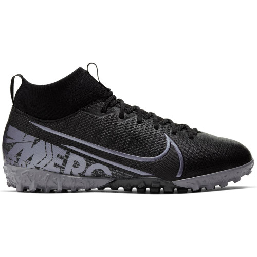 Nike Jr Superfly 7 Academy Artificial Turf Boots - Black/Grey