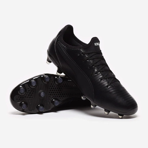 Puma King Pro Firm Ground Boots - Black/White