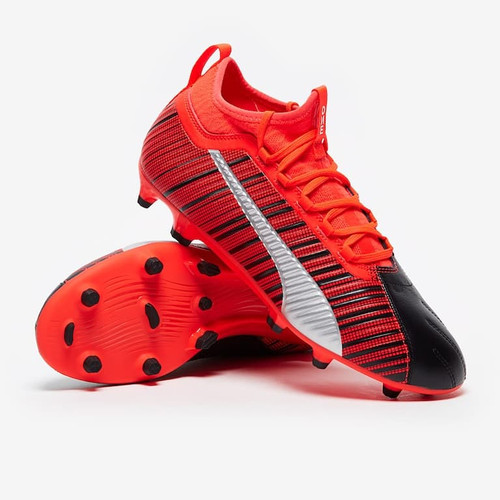 Puma ONE 5.3 Firm Ground Boots - Black/Red/Silver
