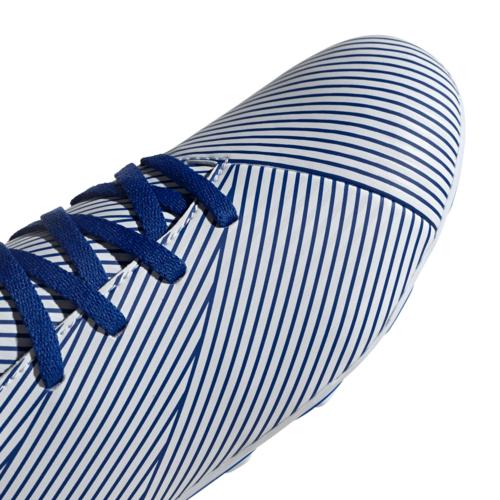 adidas Nemeziz 19.4 Firm Ground Boots Junior - White/Blue/Black