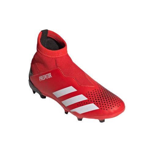 adidas Jr Predator 20.3 LL Firm Ground Boots - Red/White/Black