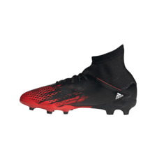 adidas Predator 20.3 Firm Ground Boots Junior - Black/White/Black